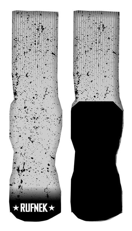 Jordan 11 Grey Cement Splatter Elite socks