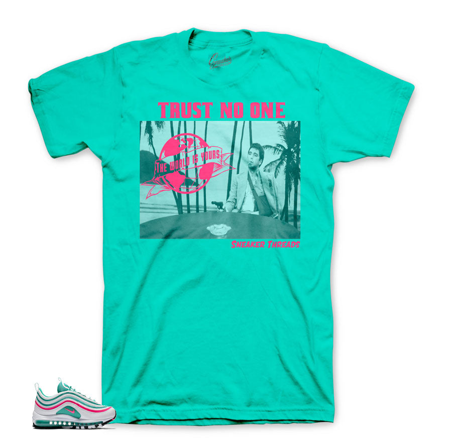 Air max south beach sneaker tees match shoes. Air max 97 tees.