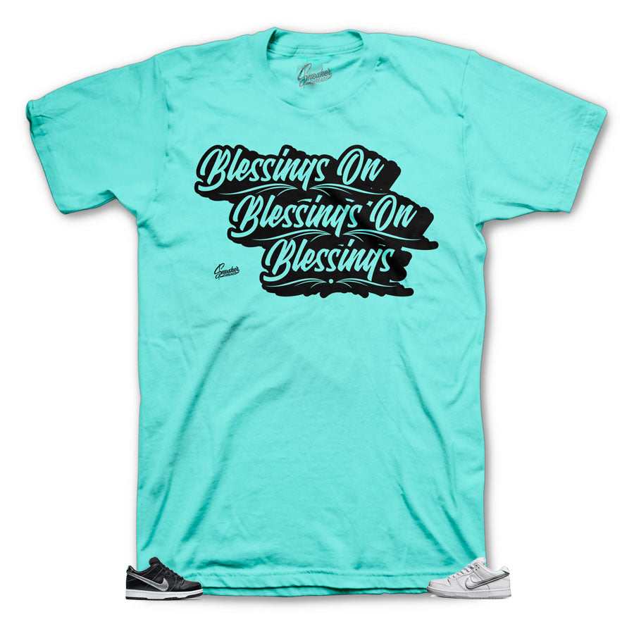Diamond Dunk Mint shirts to match color-way perfect