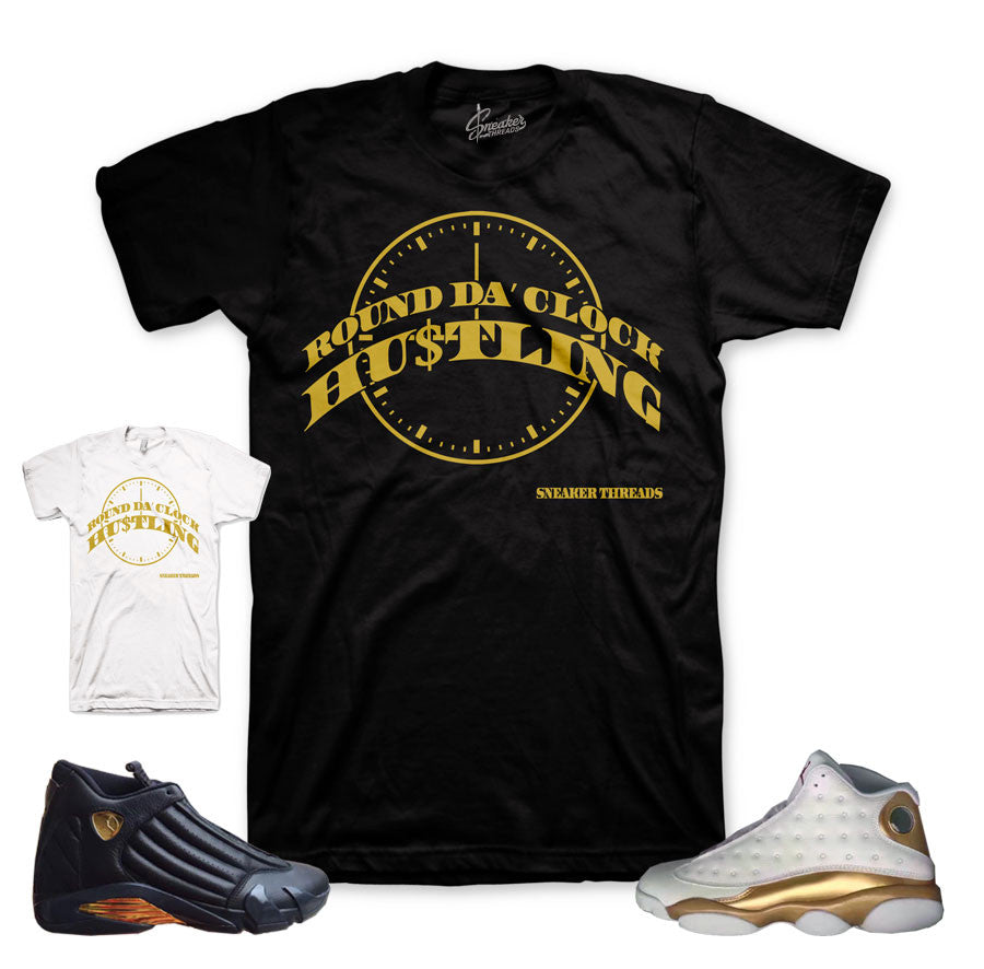 DMP jordan 13 and 14 official matching shirt and clothing.