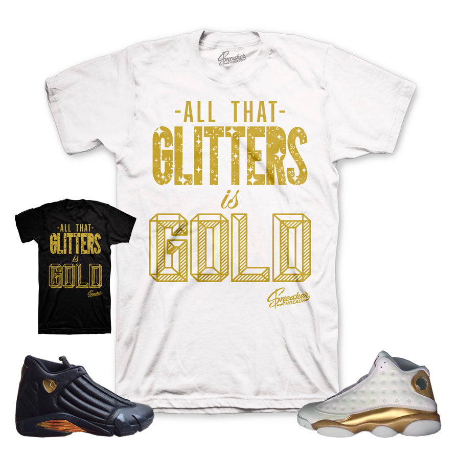 DMP jordan 13 and 14 sneaker match tees.