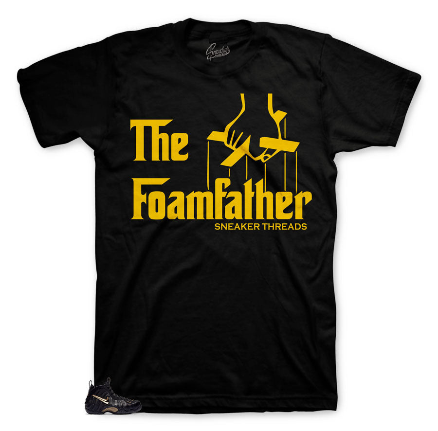 Foamfather fresh shirts for Foamposite Pro black metallic gold