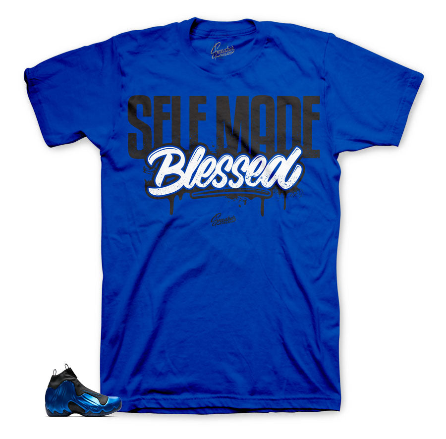 Flightposite dark neon royal sneaker tees to match perfectly.