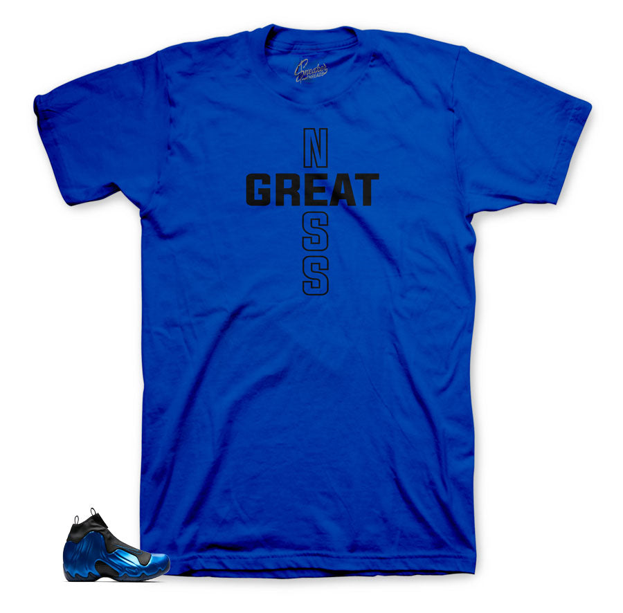 Flightposite dark neon royal matching tees and shirts for shoes.