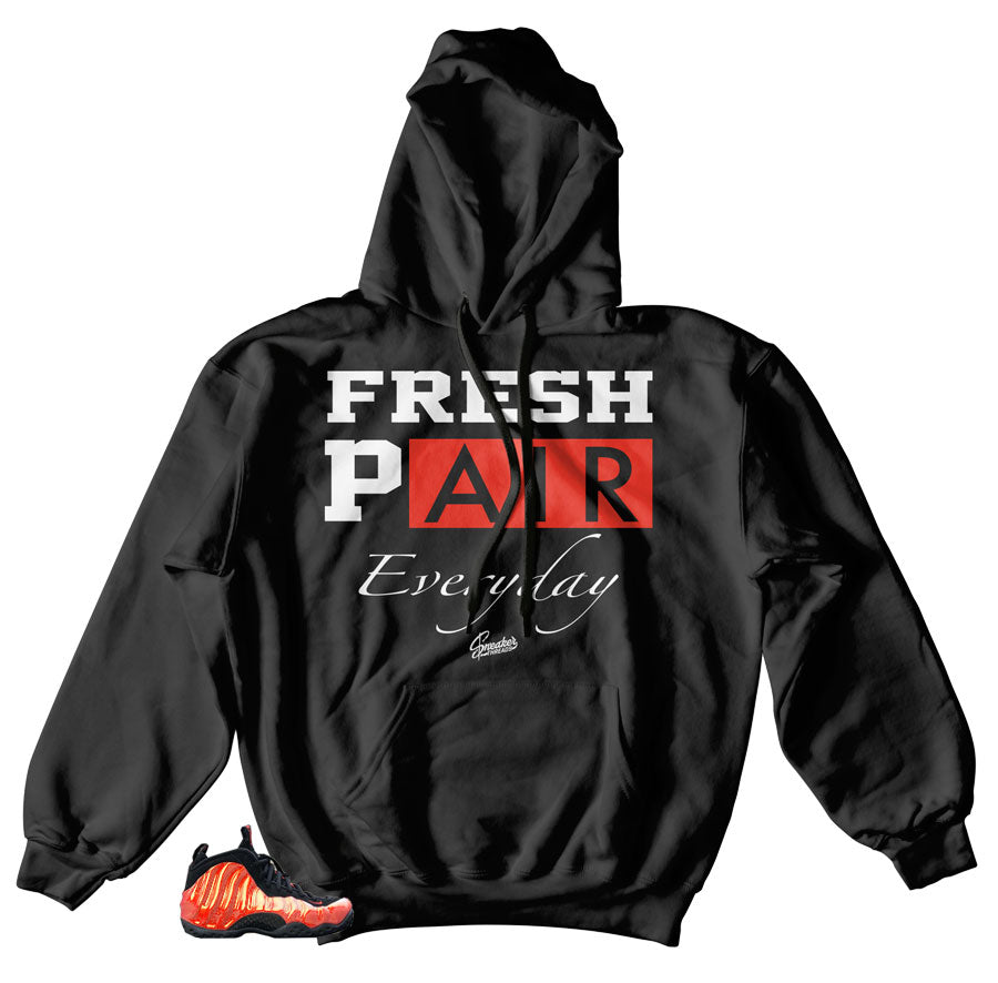 Fresh Hoodies to match Foams Habanero red