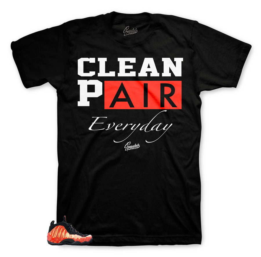 Clean shirts to match Foamposite Habanero Red