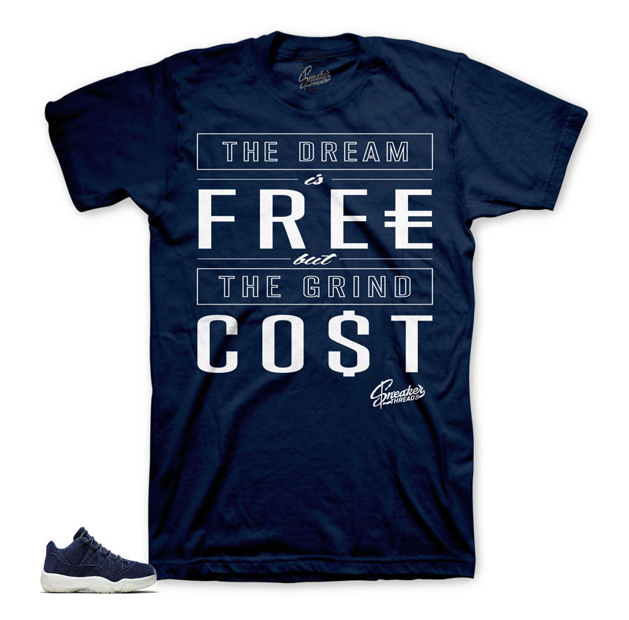 factory price f9ab9 69ca3 Jordan 11 Jeter Low Shirt - Cost - Navy