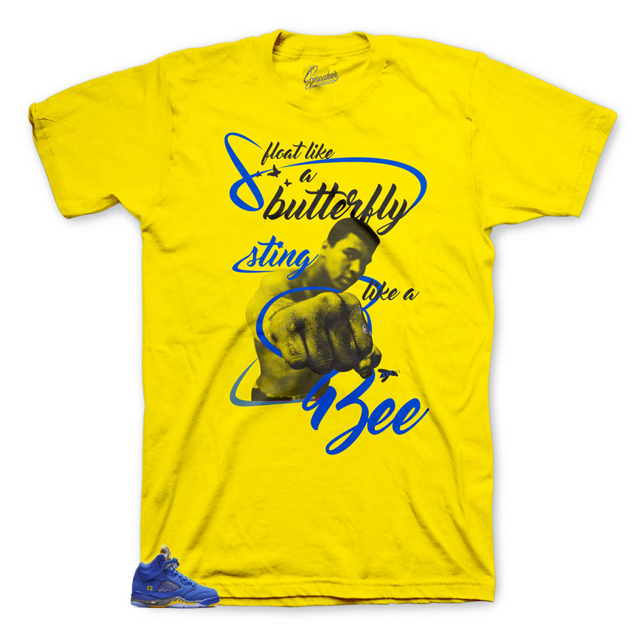 Reverse Laney Jordan 5 Retro sneakers has matching shirt