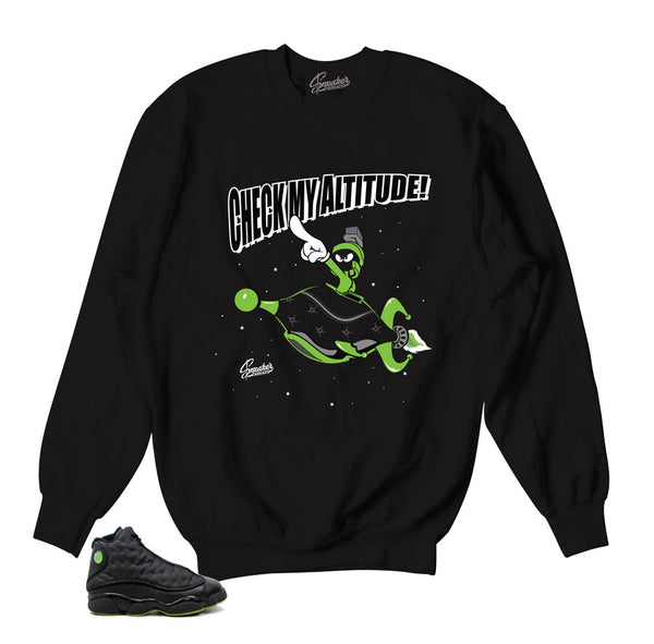 Jordan 13 Altitude Sweater - Check It - Black