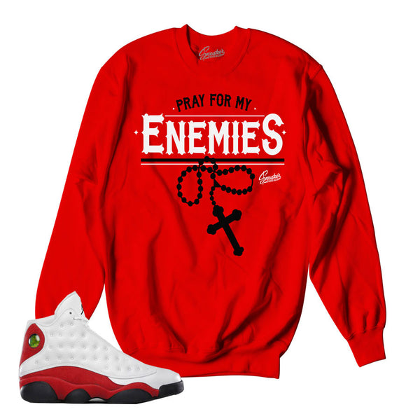 Jordan 13 True Red Sweater - Enemies - Red