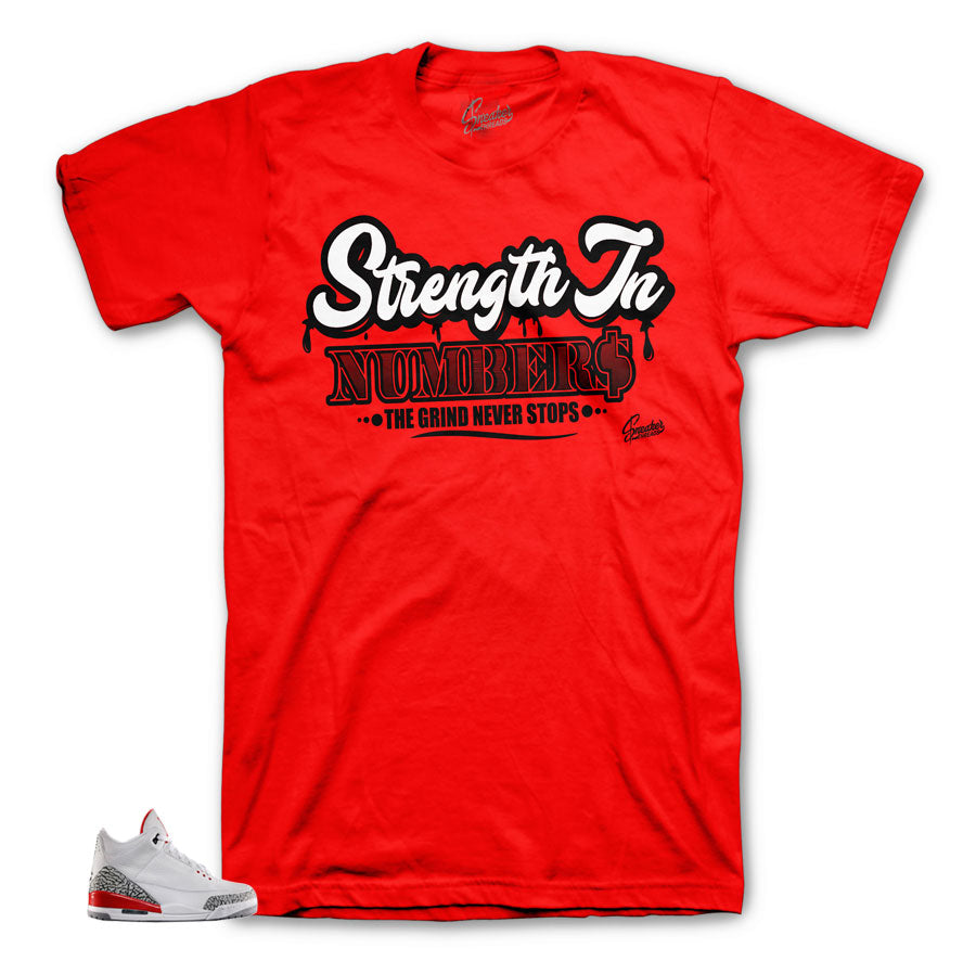 Jordan 3 Katrina shirts match retro 3 hall of fame tees.