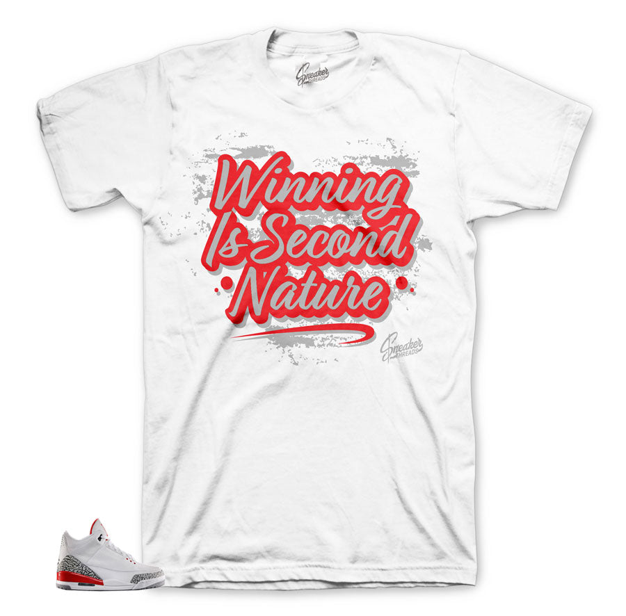 The best sneaker tees to match Jordan 3 Katrina hall of fame shoes.