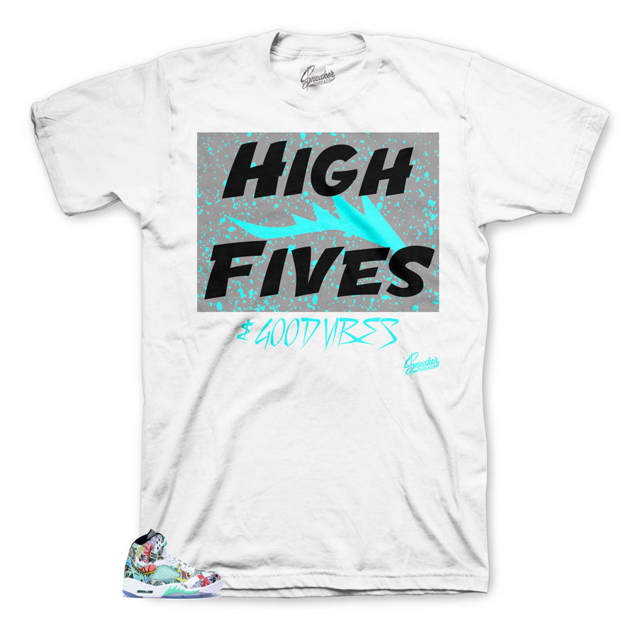 brand new b5df0 8a353 Home Jordan 5 Wings Shirt - Good Vibes - White. Share