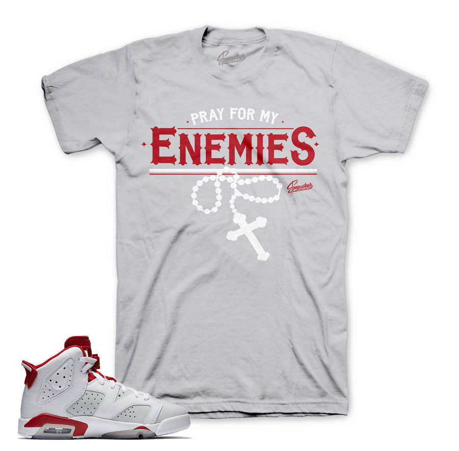 Jordan 6 alternate  tees match retro 6 sneakers shoes.