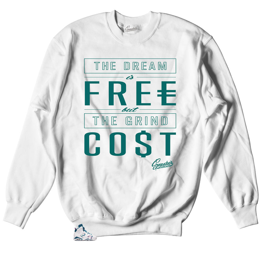 Jordan 6 Green Abyss Sweater - Cost - White