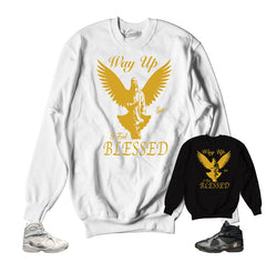 Sweaters match Jordan 8 ovo official matching crewnecks.