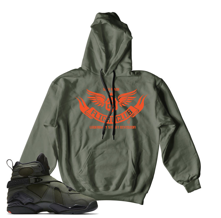 Take flight 8 hoodies match Jordan 8 take flight sneakers.