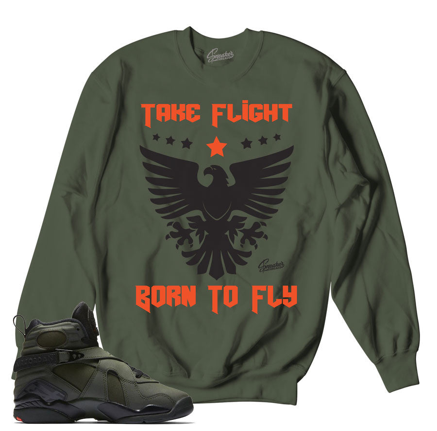 Take flight Jordan retro 8 sneaker match sweaters.