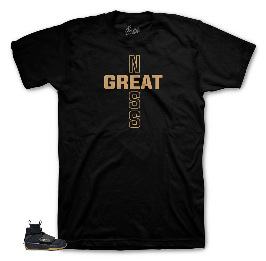 Jordan Black Greatness shirt | Jordan 20 Flyknit