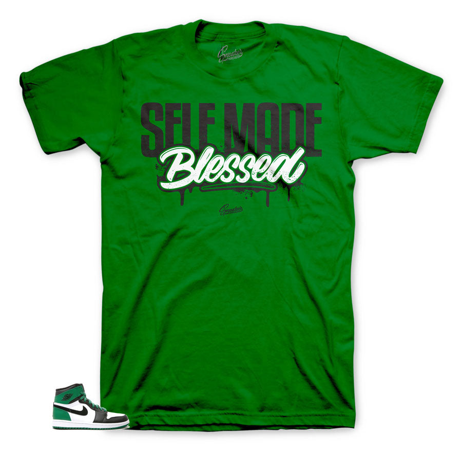 Pine Green 1's Self made matching tee