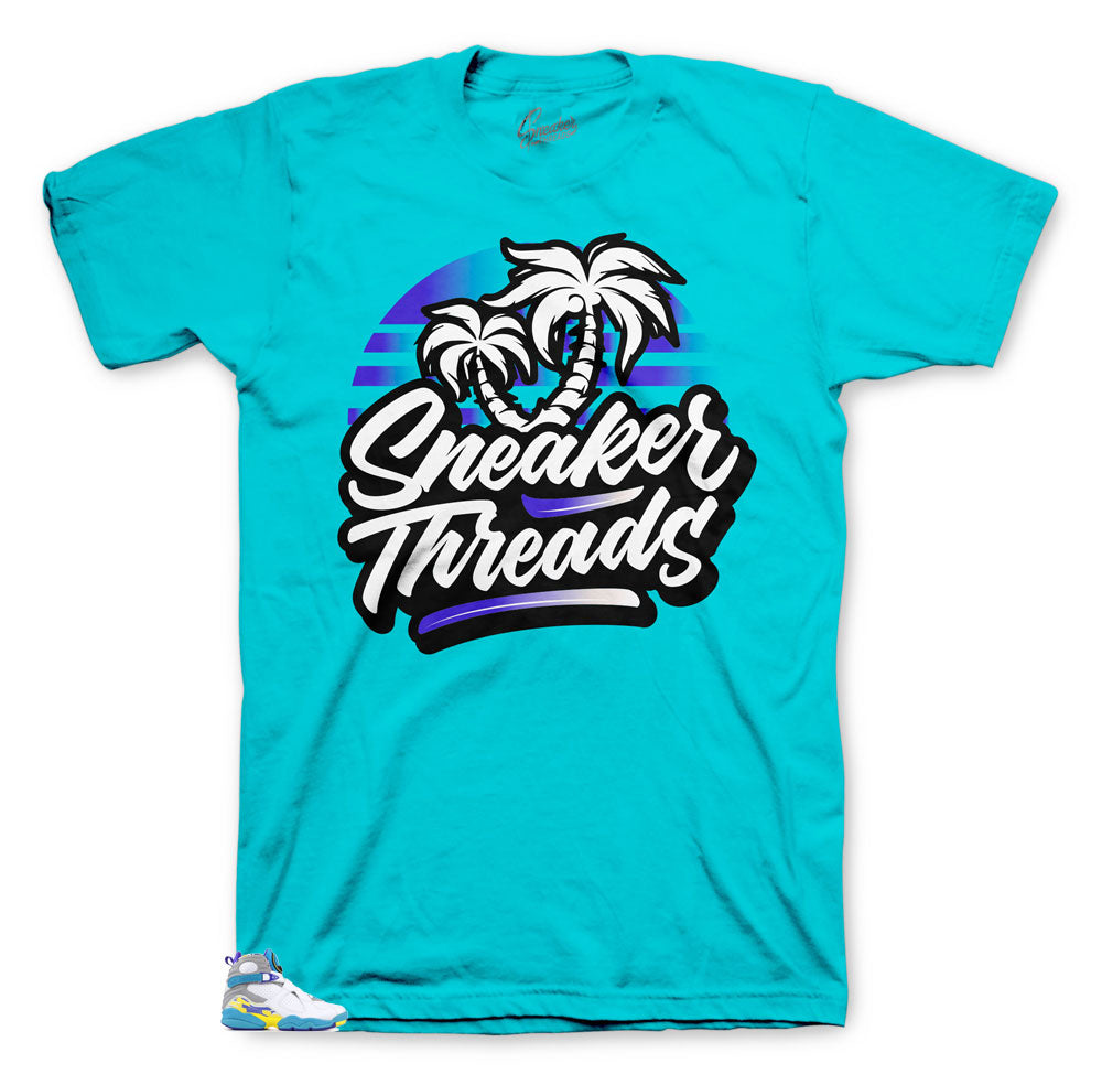 Jordan 8 white aqua sneaker tees match retro 8s womens aqua shirts.