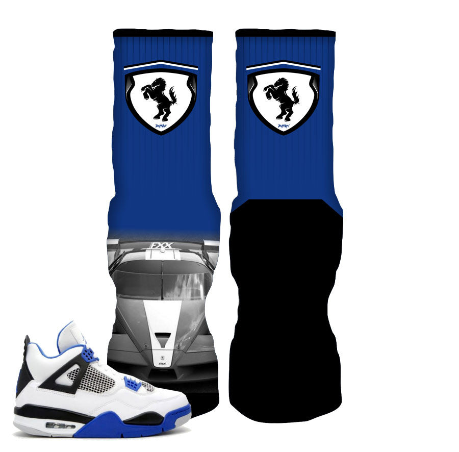 Socks match jordan 4 motorsport retro 4 shoes.