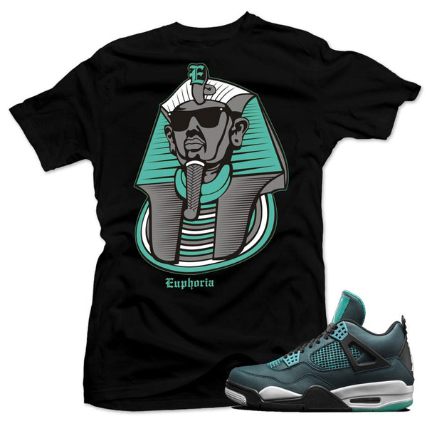 Jordan 4 Teal Shirt - Fresh Sphinx - Black