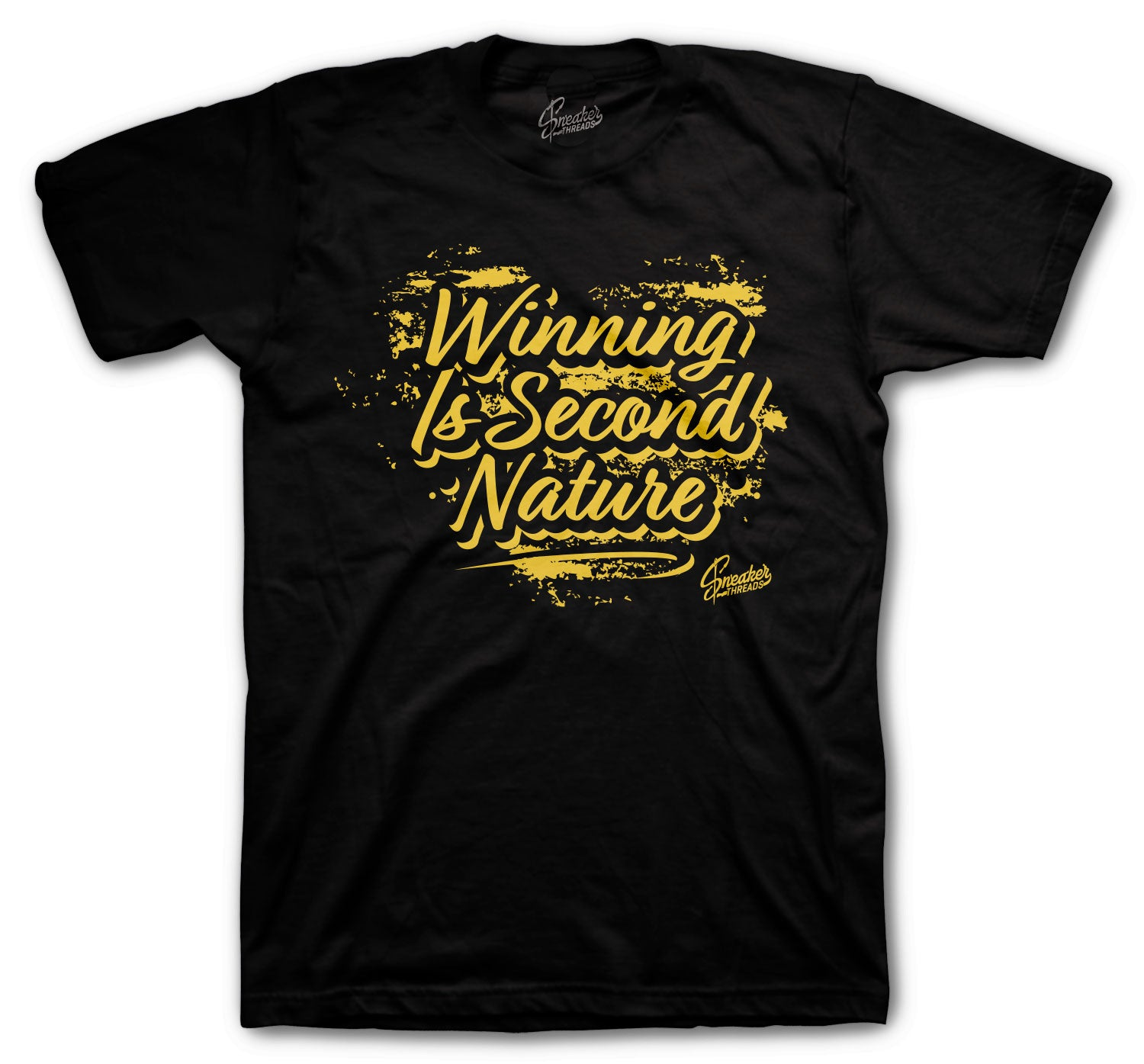 Jordan 1 Black Gold Shirt - Second Nature - Black