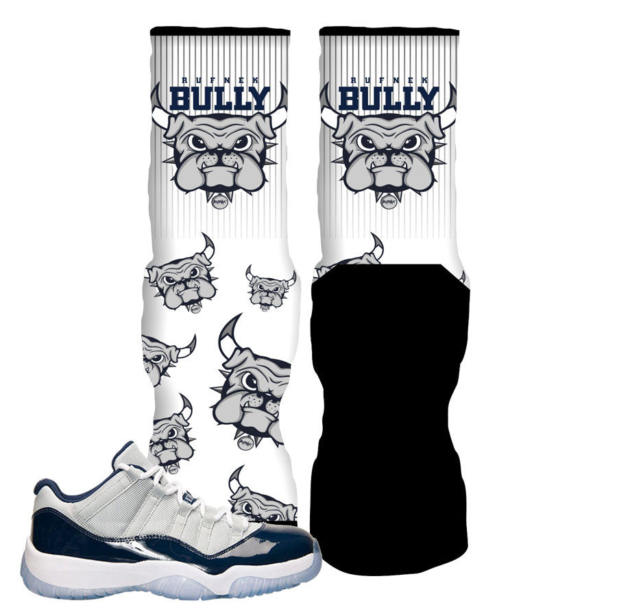 0acd7f0037b Elite socks to match Jordan 11 Low Georgetown custom retro 11 socks.