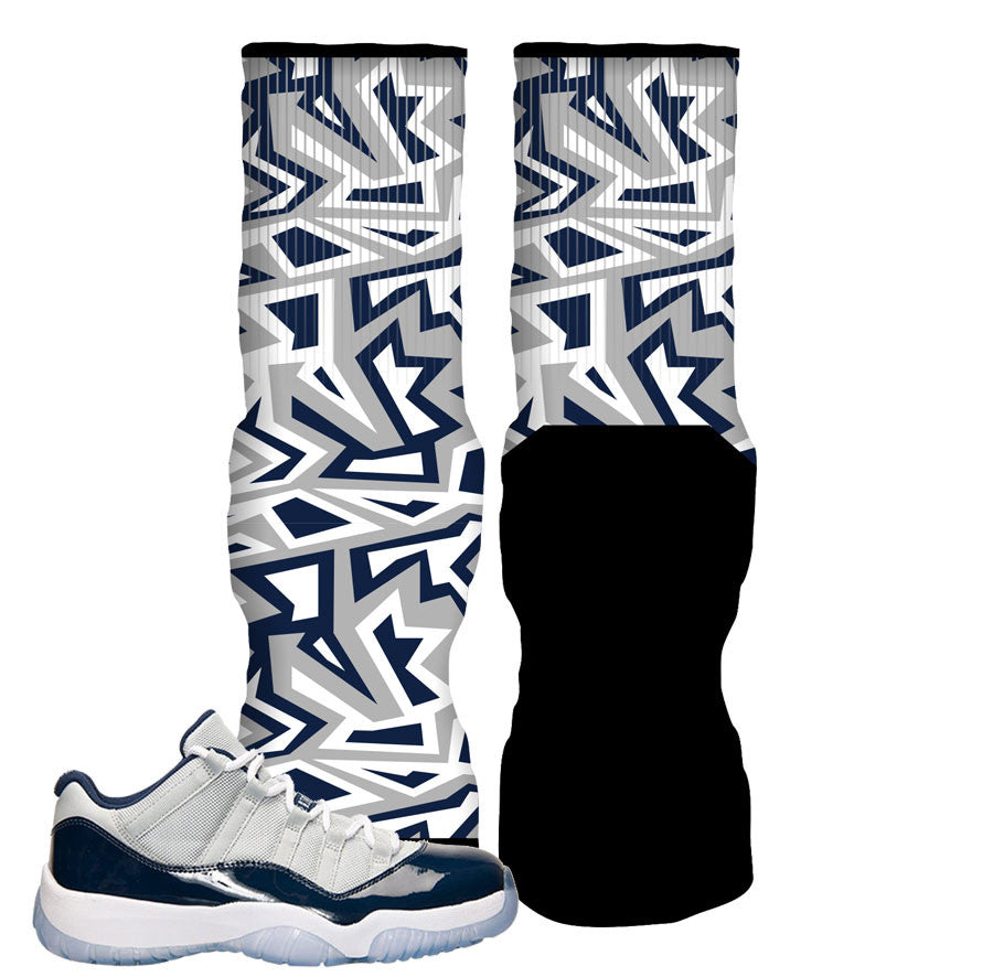 Jordan 11 Georgetown Elite Socks - Funky 90's Bully