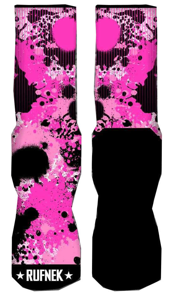 Foamposite Pro Elephant Print Elite Socks - Stupid Fresh - Prink