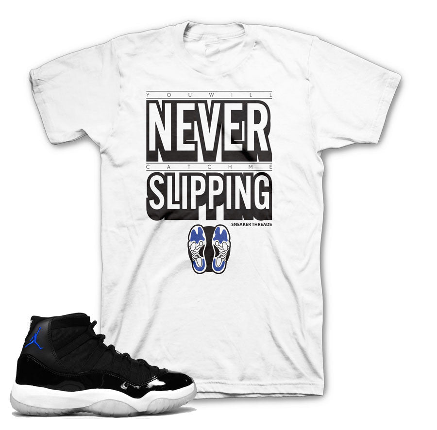 3855a893df5404 Jordan 11 space jam sneaker tees match retro 11 space jam shirts.