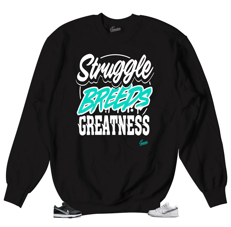 Struggle Beeds crewneck for Diamond Dunk SB