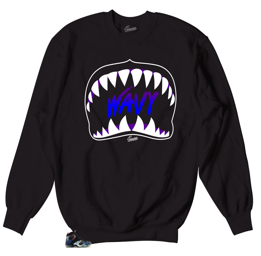 Crewneck sweater mde to match the nike air sneakers rookie zoom galaxy collection