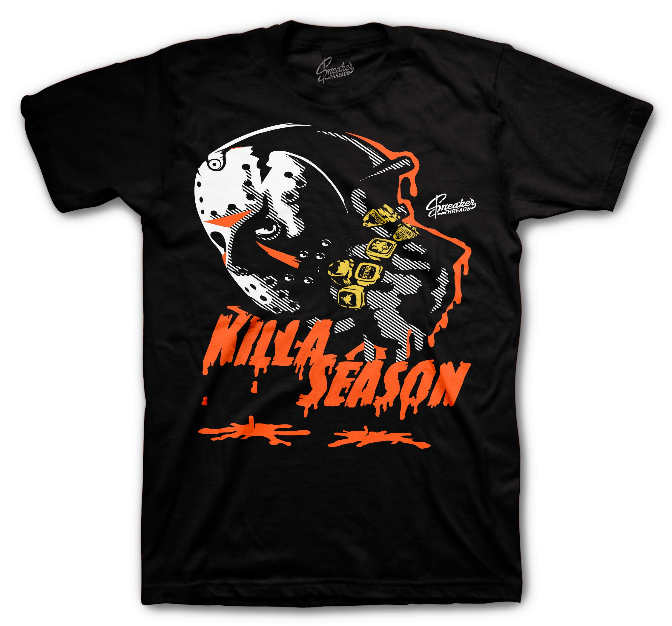 Foams shattered backboard Killer shirts for halloween