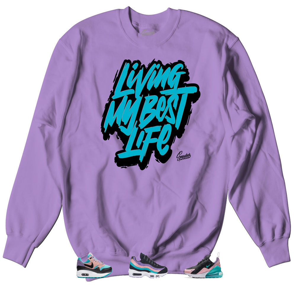 56b314069a Home Air Max Have Nice Day Sweater - Living Life - Orchid. Share