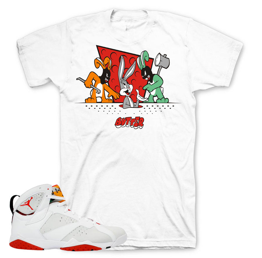 Shirts to match Jordan 7 hare sneaker match hare retro 7 shirts.