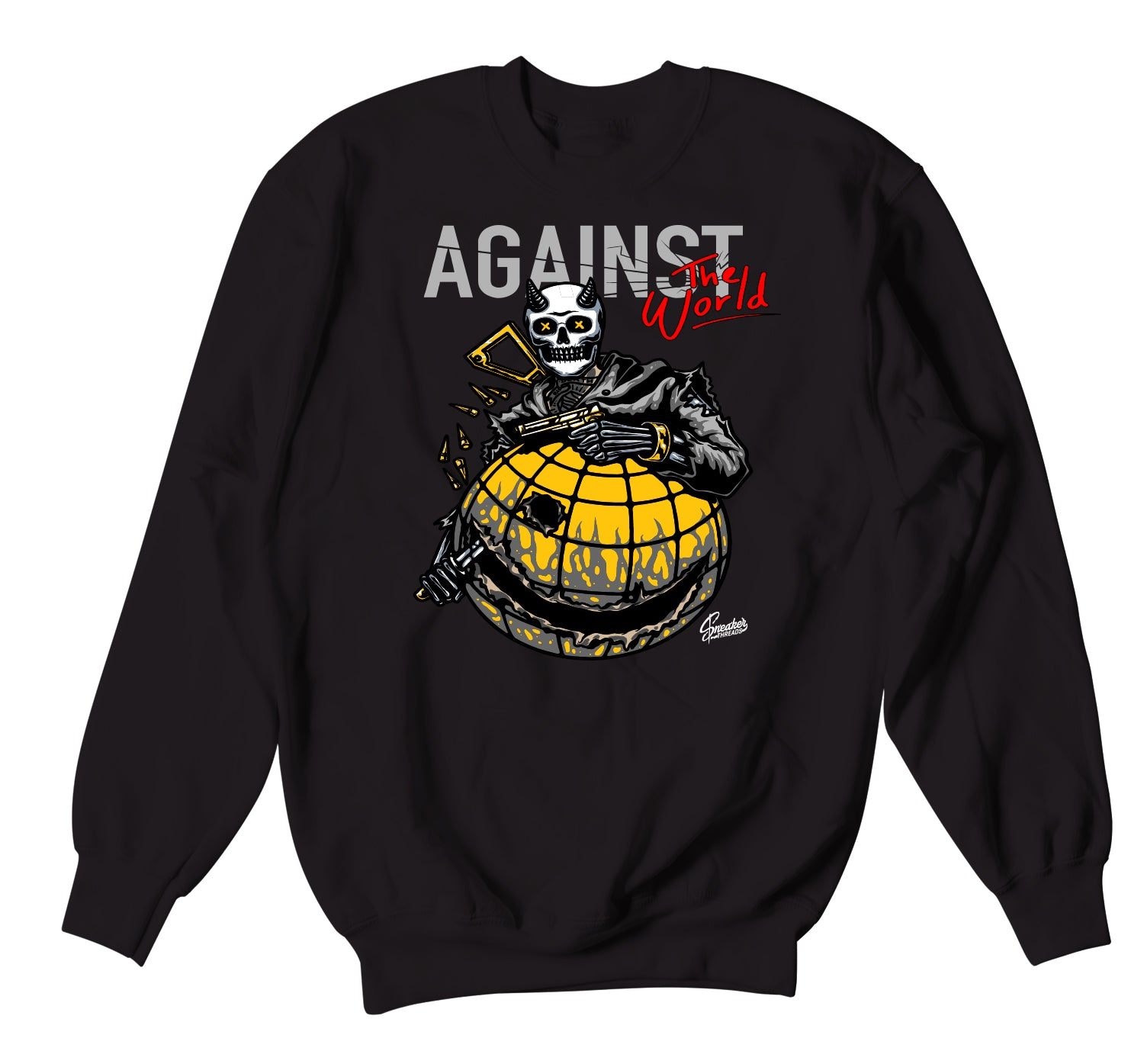 Jordan 3 Cool Grey Sweater - Against The World - Black