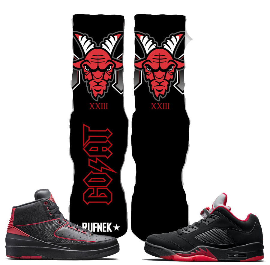 Jordan 5 Alternate Socks - XXXIII Goat