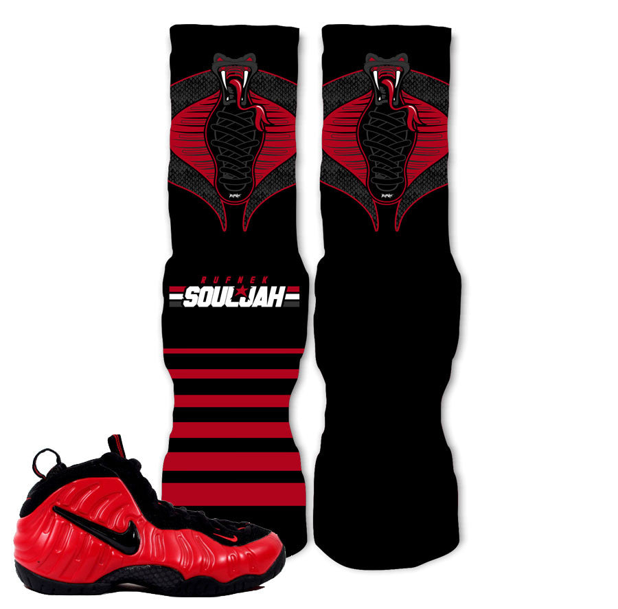 Foamposite University Red Socks - Cobraposite - Black