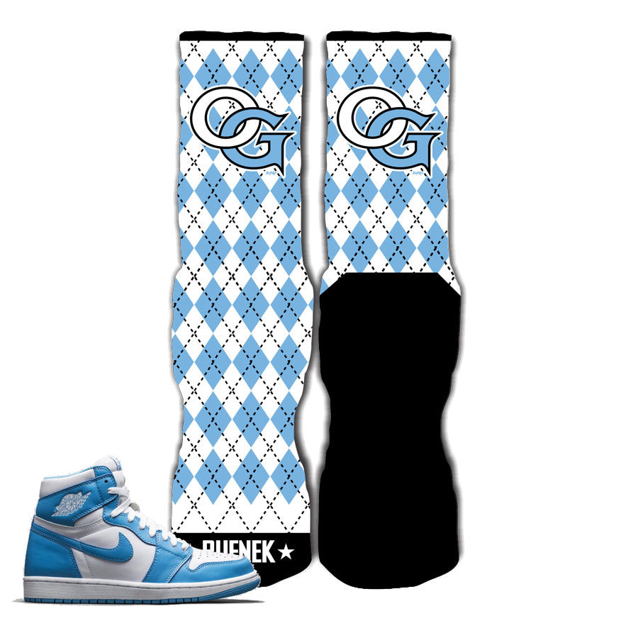 e806eb75a6e Elite socks match Jordan 1 UNC powder blue socks for UNC shoes.
