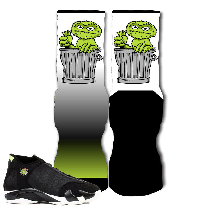 dc5502eee45e33 Jordan 14 indiglo socks match retro 14 vivid green elite socks. Retro 14  indiglo socks. Shirt