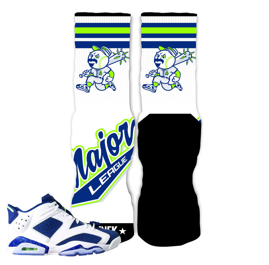 Jordan 6 Low Ghost Green Socks - Major League