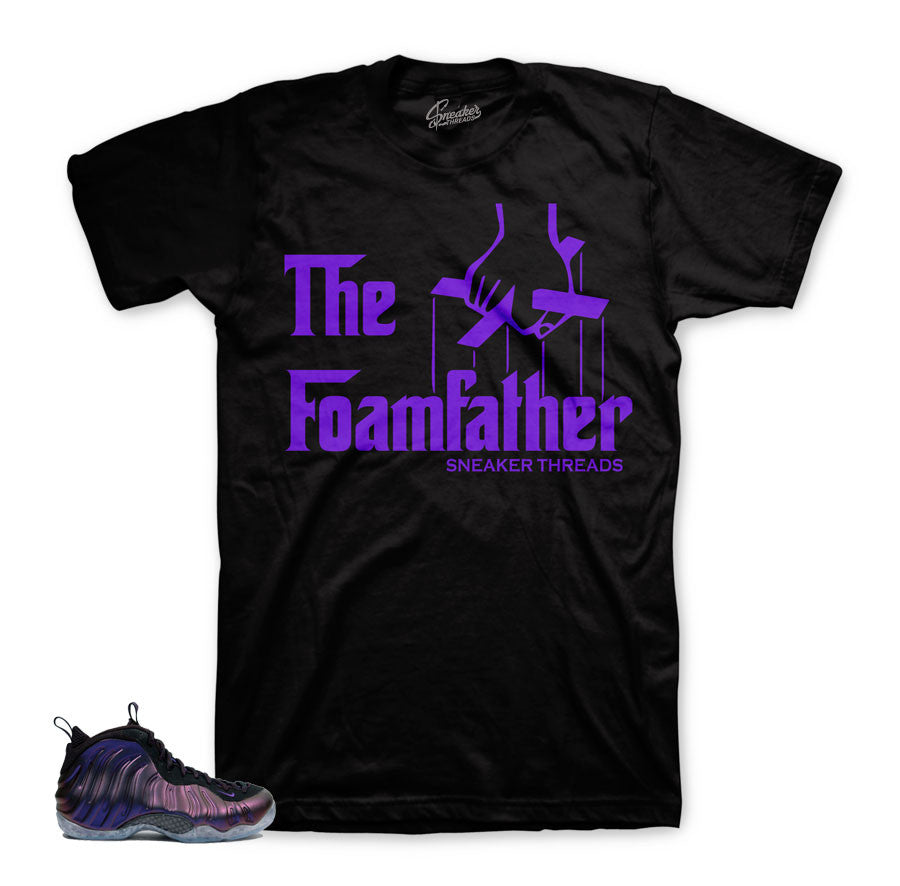 Foamposite eggplant shirts match shoes | Fresh new sneaker shirts