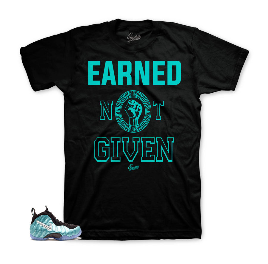Foamposite shirts match | Island green official clothing match.