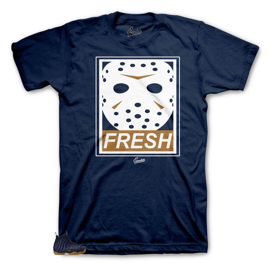Foamposite Midnight Navy Sneakers | tees made to match Foamposite Midnight Navy shoes