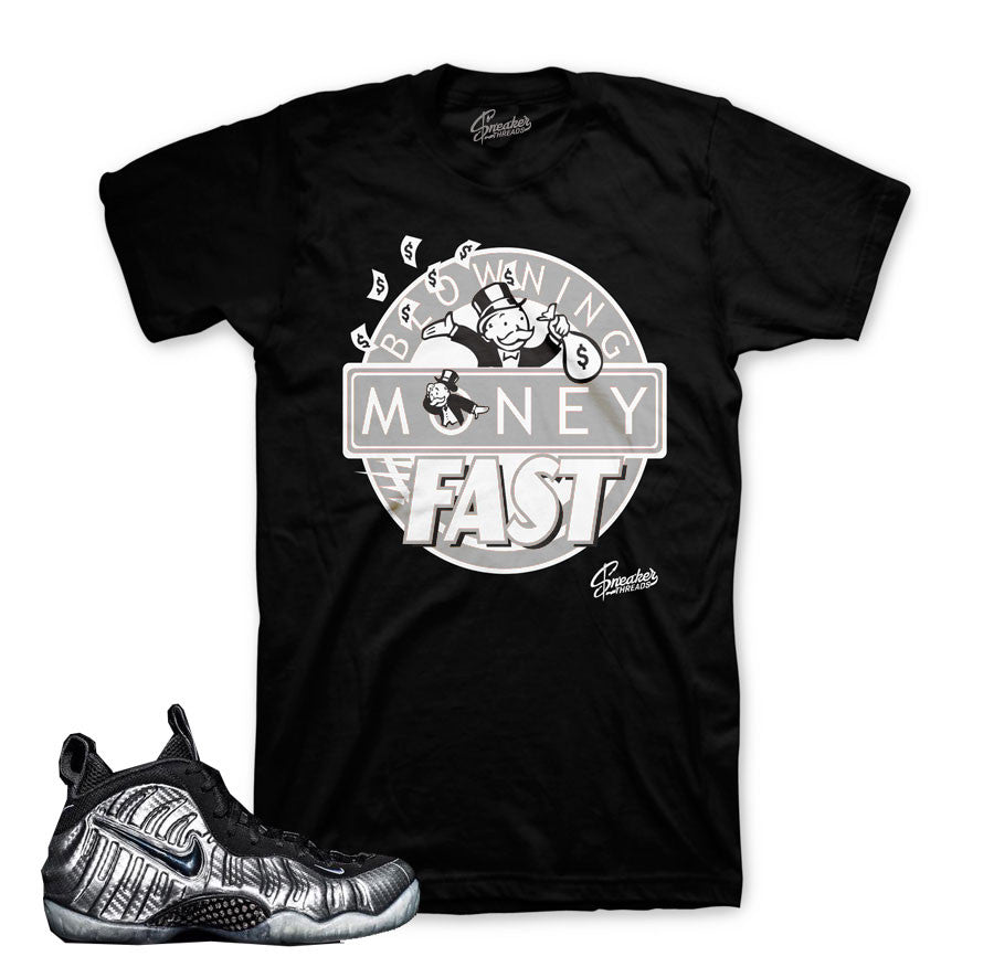 Foamposite silver surfer match shoes | Sneaker t shirts