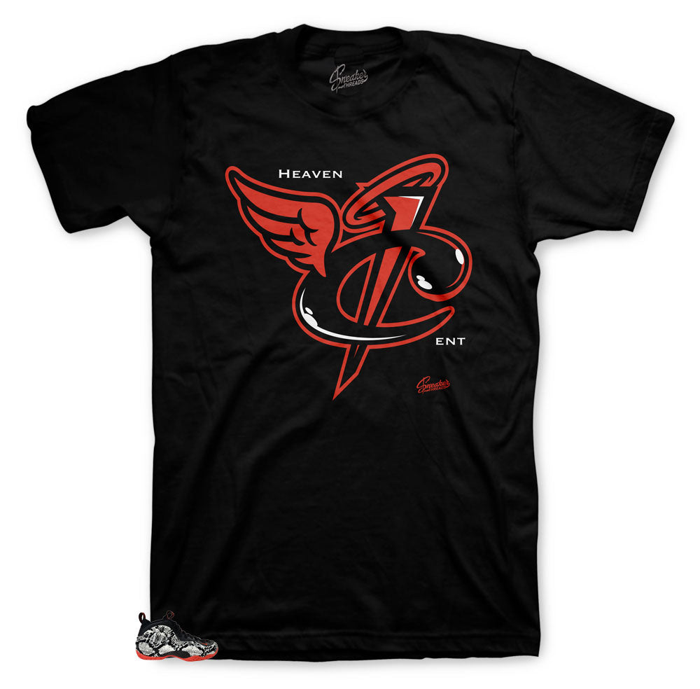 Foamposite Snakeskin Sneaker Tees | Habanero Red Snake Shirts Match