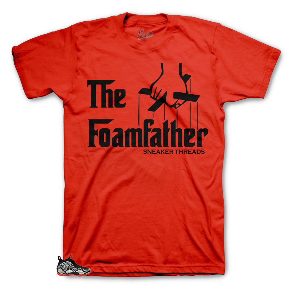 Foamposite Snakeskin Foamfather shirts to match perfect