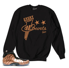 2996925f807e Foamposite Copper Sweater - Every Penny - Black